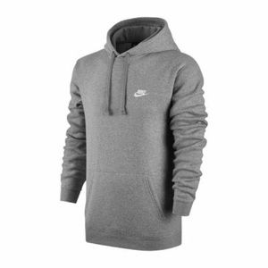 Nike Shirts - Nike Gray Long Sleeve Hooded Pullover Sweatshirt G